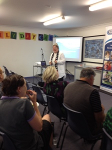 Guest speaker Carol Burgess, NSW ECA President